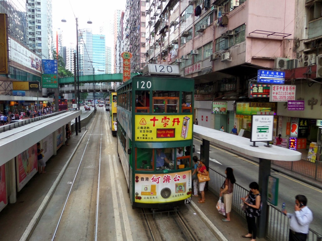 Tram at Causeway Bay, Hong Kong