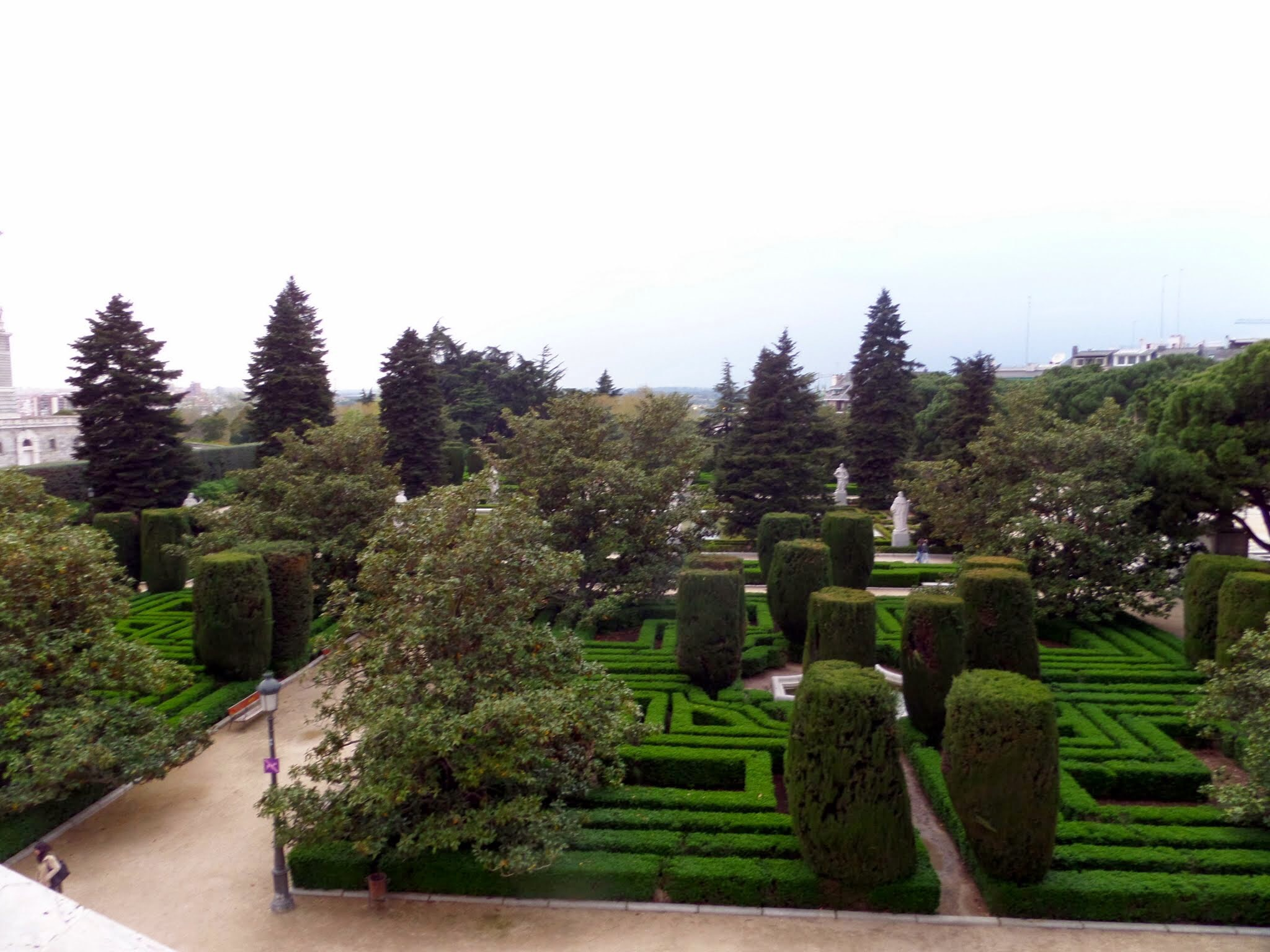 Garden near palace, Madrid