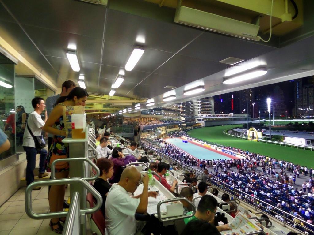 Grandstand seats, Hong Kong Race Course