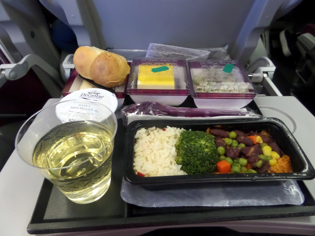 Qatar Airways meal