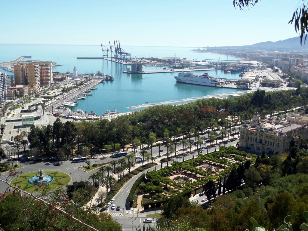 Malaga from The Alcazar