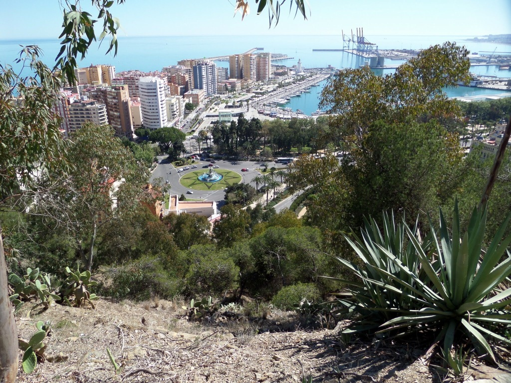 View of Malaga from the Alcazar