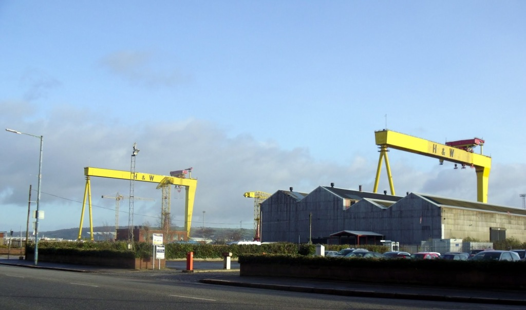 Harland and Woolf Cranes, Titanic Quarter, Belfast