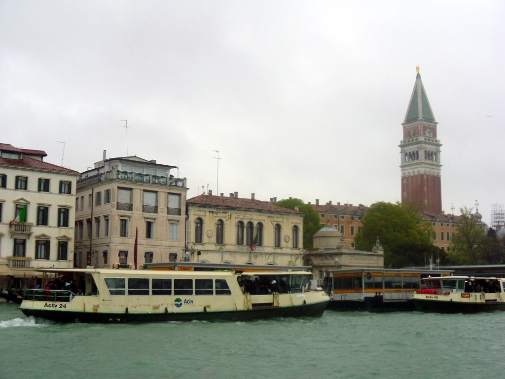 Water buses on the Grand Canal Venice