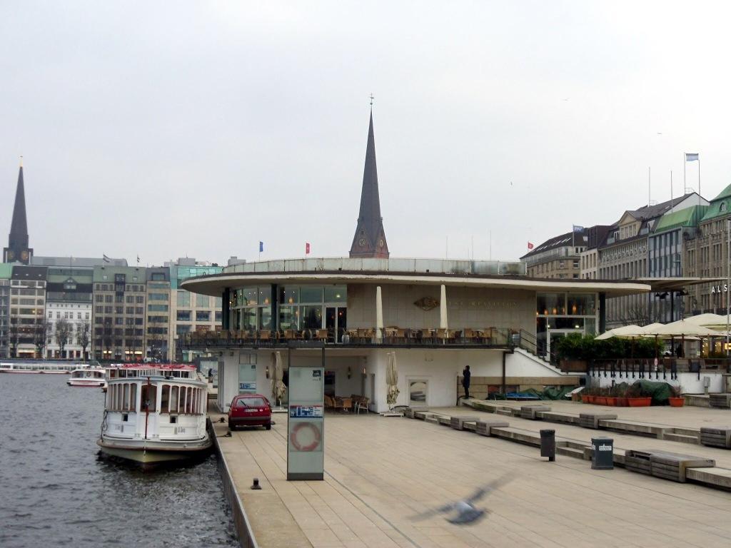 Alster pier, Hamburg