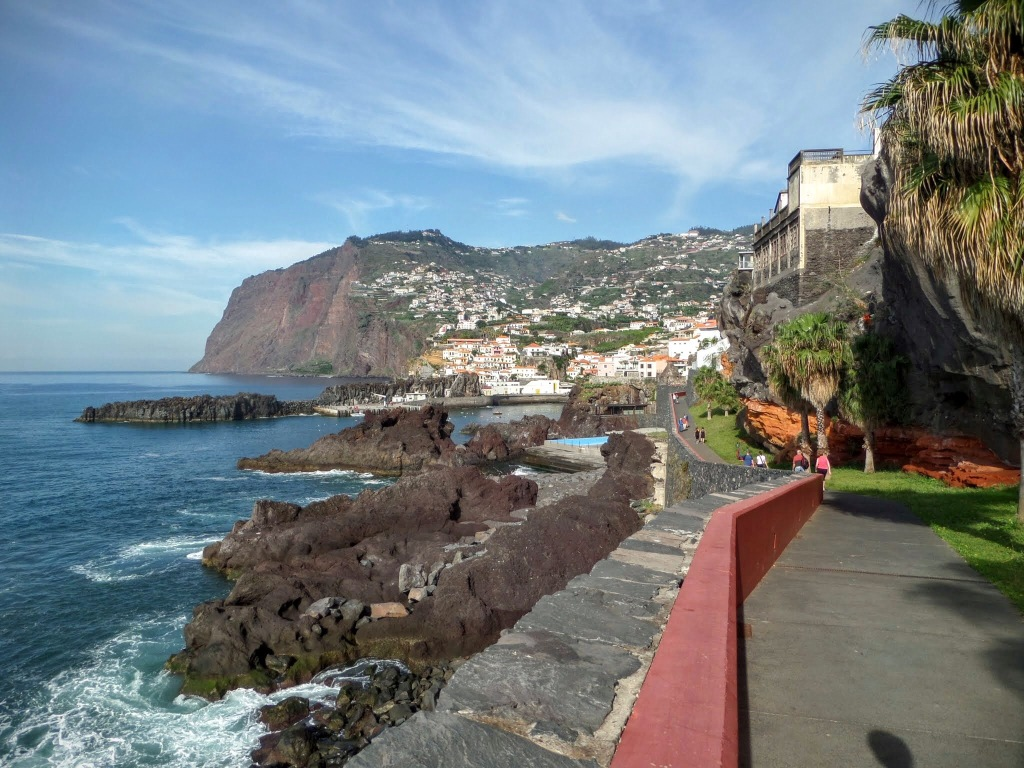 Coastal walk towards Camara da Lobos from Funchal