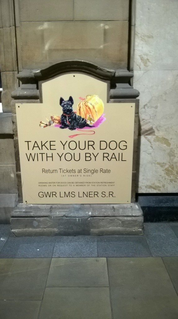 Heritage sign, Edinburgh Waverley Station