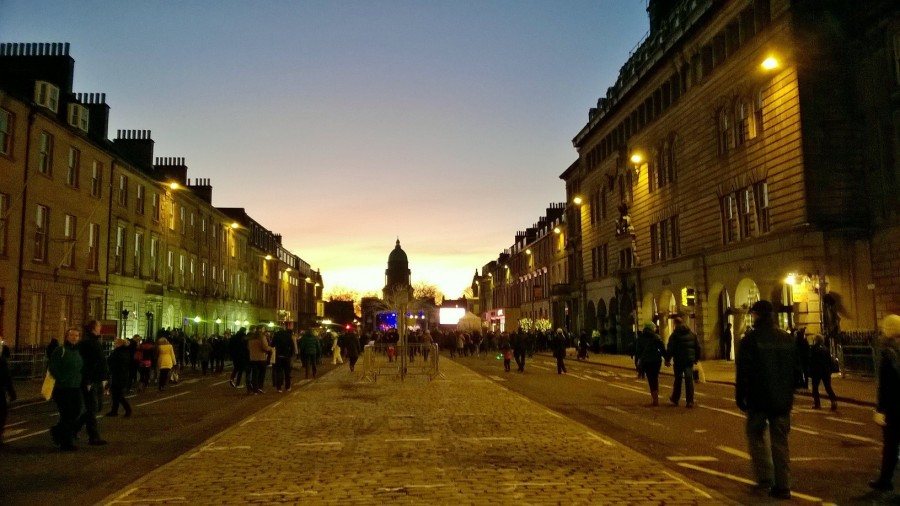George Street, Edinburgh at dusk