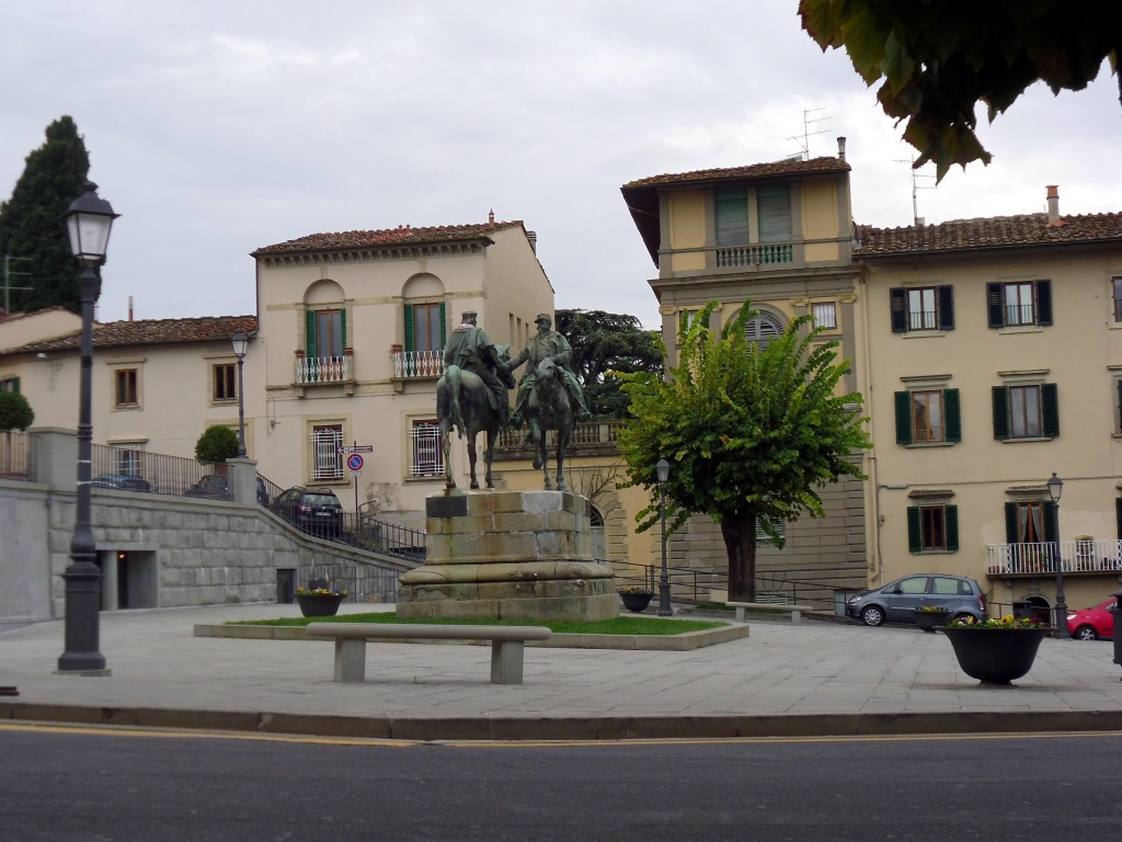 Main square, Fiesole, Italy