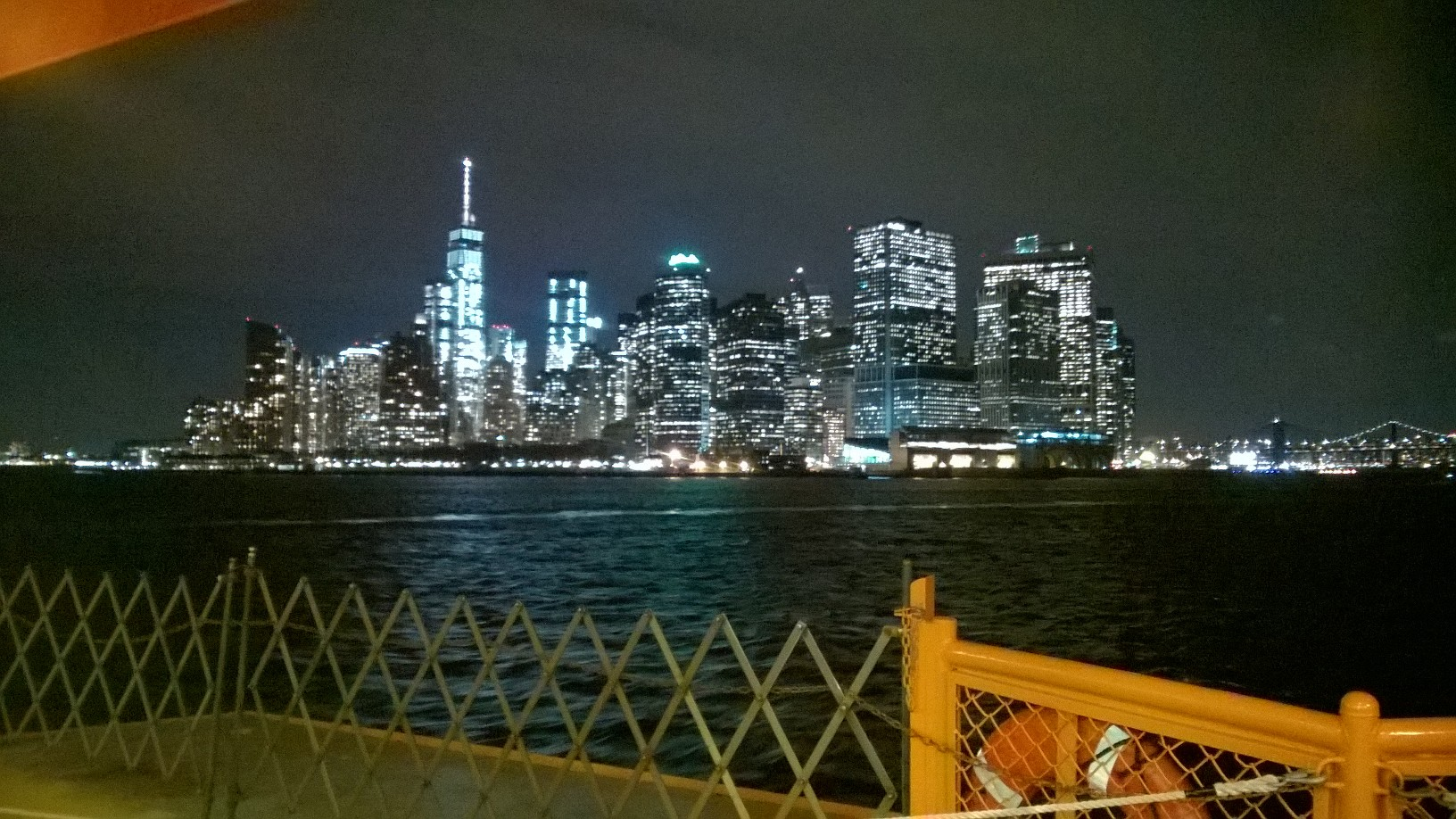 Night view from the Staten Island Ferry