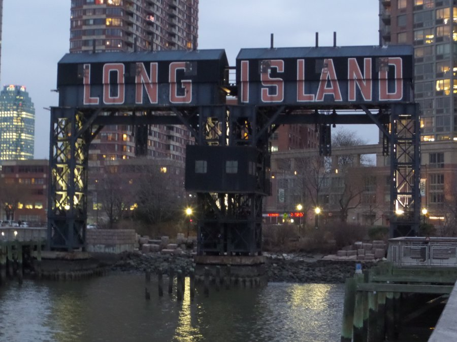 Long Island Gantry Crane Sign, New York