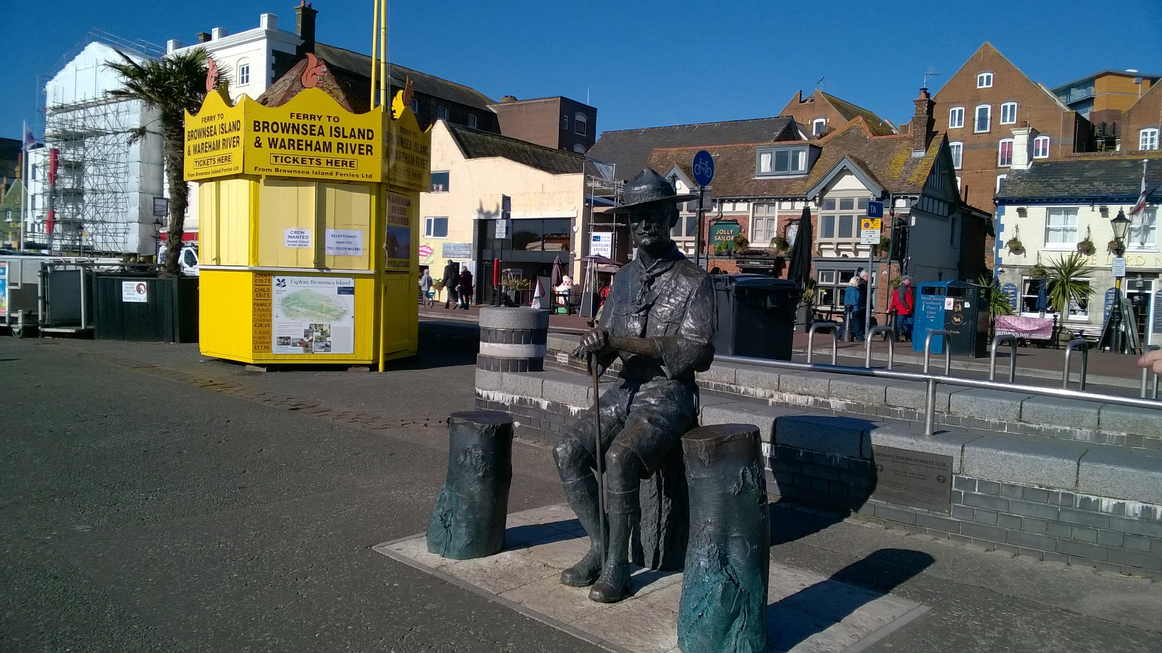 Lord Baden Powell Statue, Poole Quay