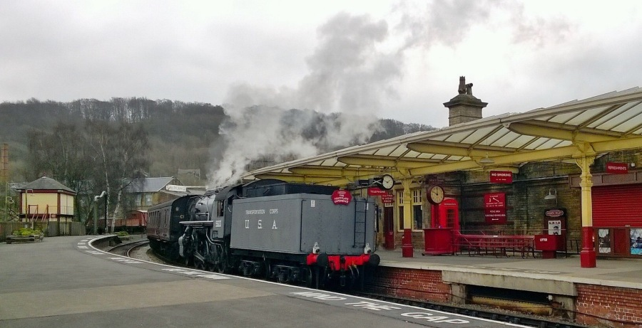 Steam train on the Keighley and Worth Valley Railway