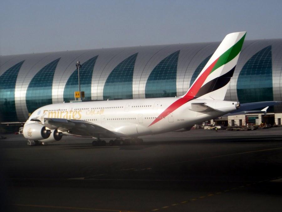 Emirates A380 aircraft