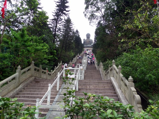 Steps up to Big Buddha, Hong Hong