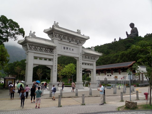 Entrance to Po Lin Monastery, Hong Kong