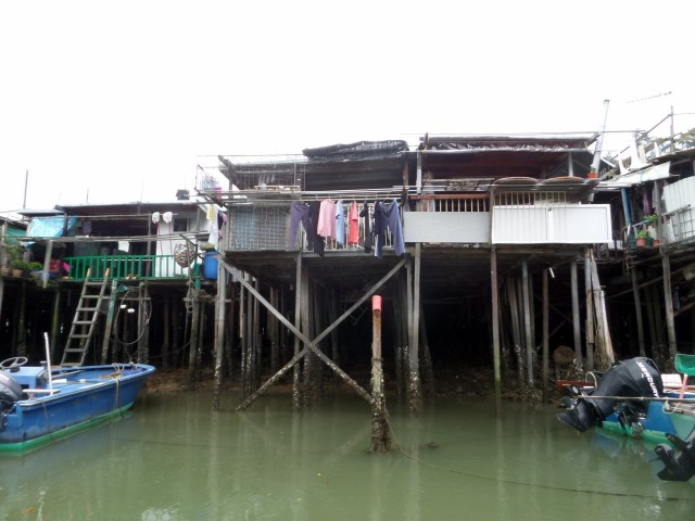 Houses built on stilts in Tai O Village, Hong Kong