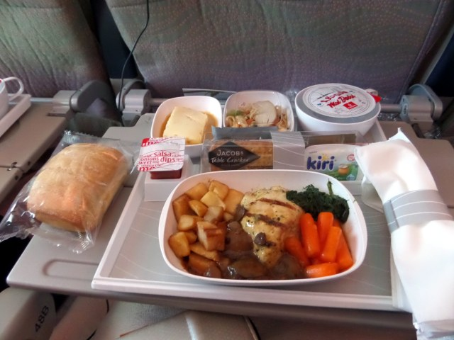 Dinner on board the Emirates A380