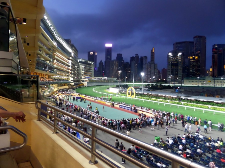 View from Grandstand at Happy Valley Racecourse, Hong Kong