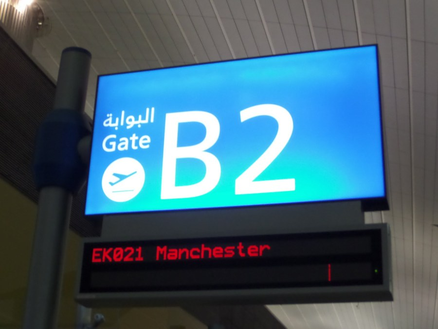 Gate B2 at Dubai airport