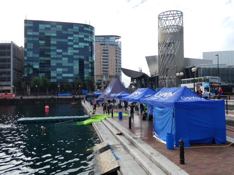 Open water swimming event, Salford Quays