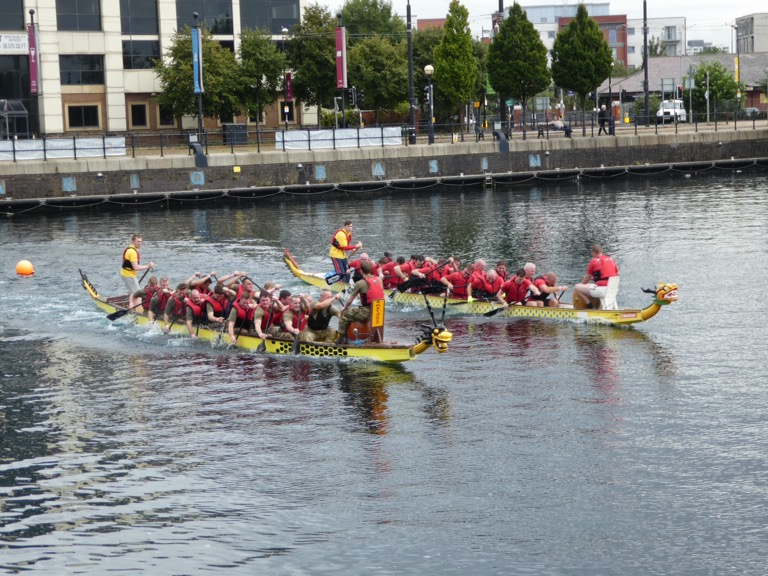 Dragon boat racing, Salford Quays