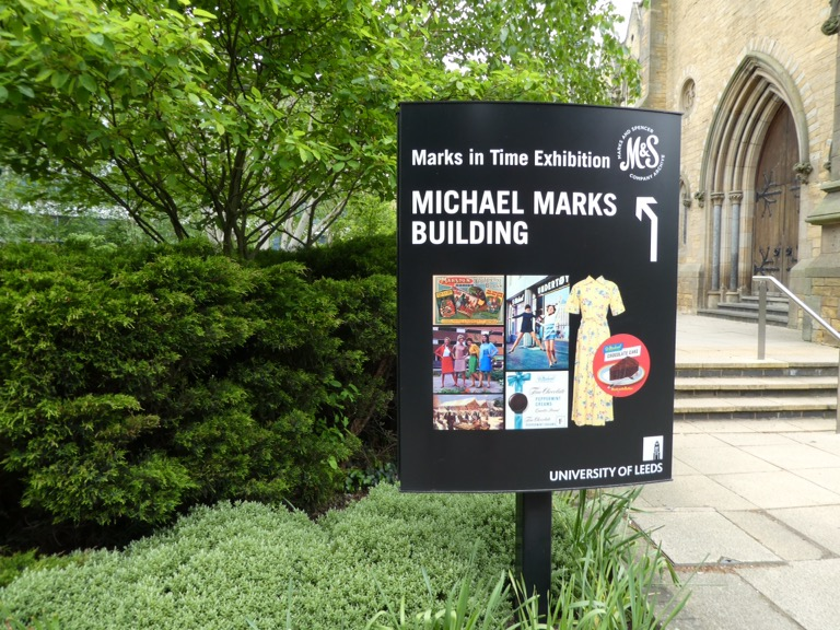 Entrance to the Marks in Time Exhibition, Marks and Spencers