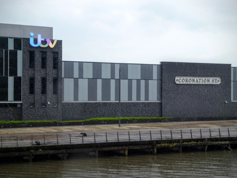 ITV Studios and Coronation Street sign, Salford Quays