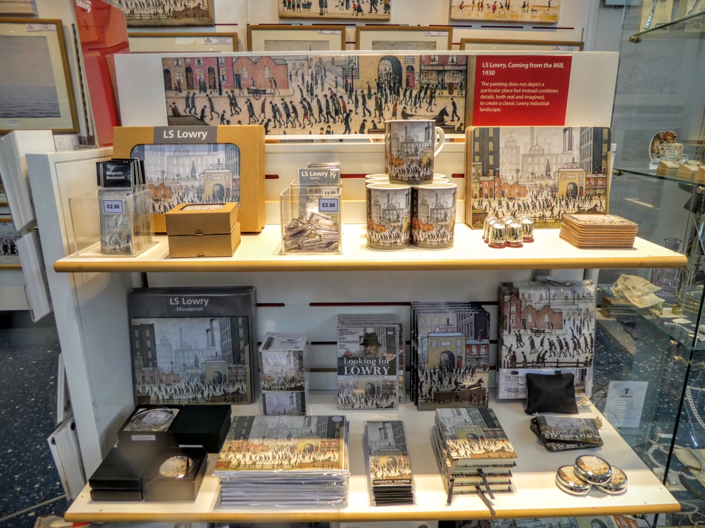 The Lowry gift shop, Salford Quays