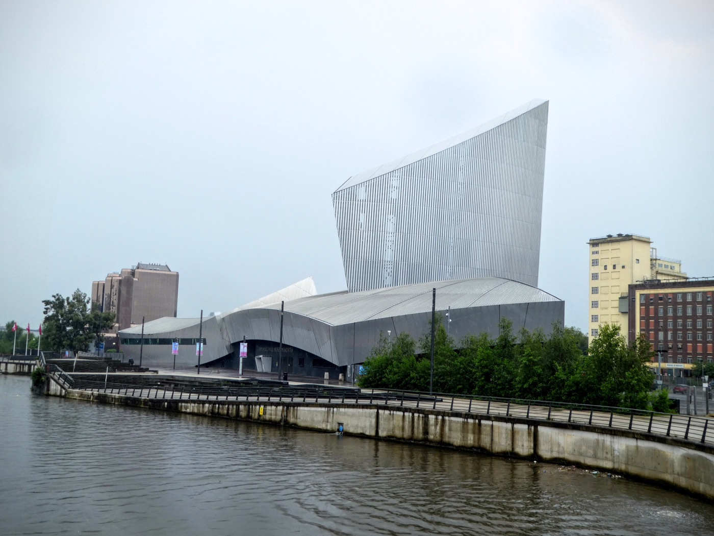Exterior of the Imperial War Museum North, Salford Quays