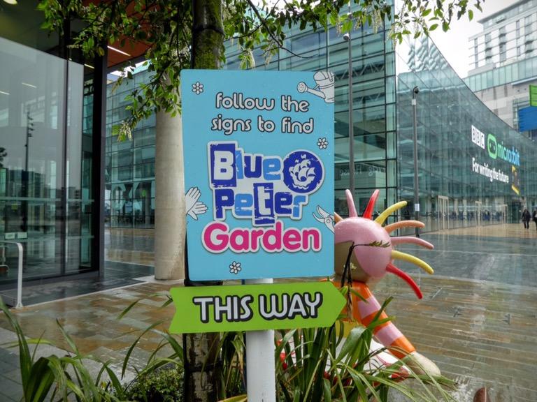 Blue Peter Garden sign, Media CityUK Salford Quays