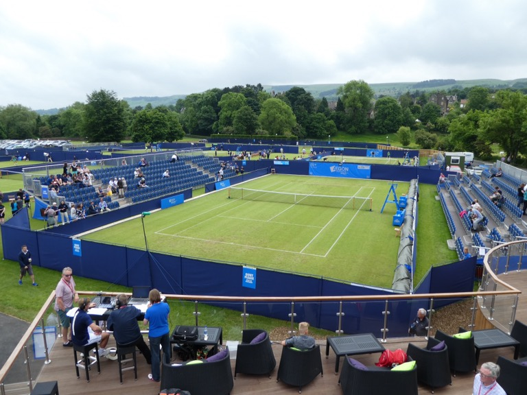 Centre Court at the Aegon Ilkley Tennis Tournament