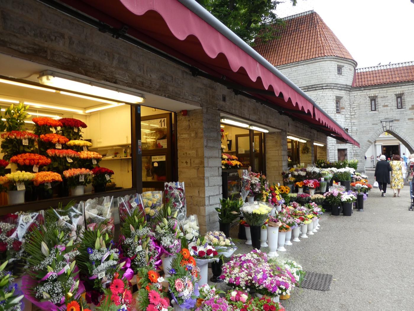 Flower Market, Old Town Tallinn