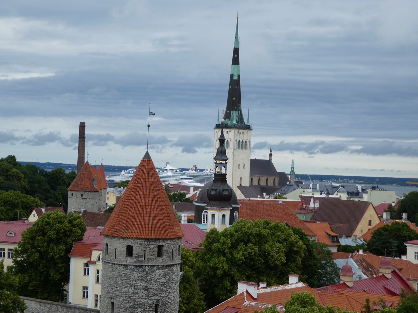 The rooftops of Tallinn