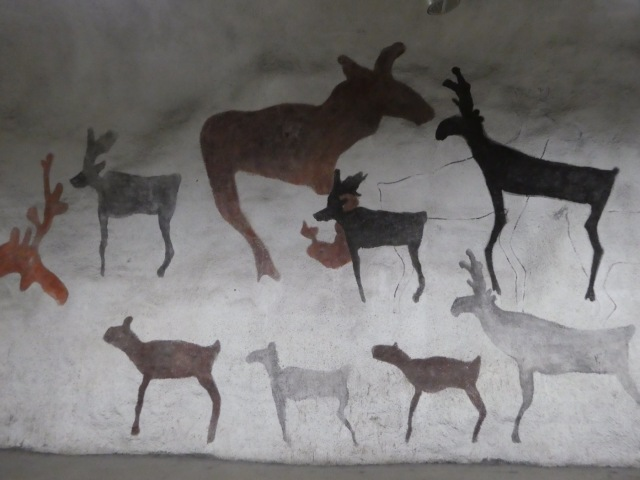 Wall murals, Kaisaniemi Metro Station,Helsinki