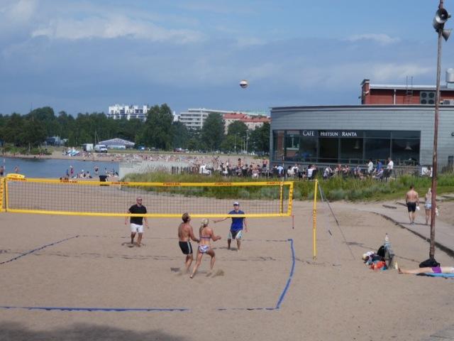 Beach volleyball at Hietaniemi Beach, Helsinki
