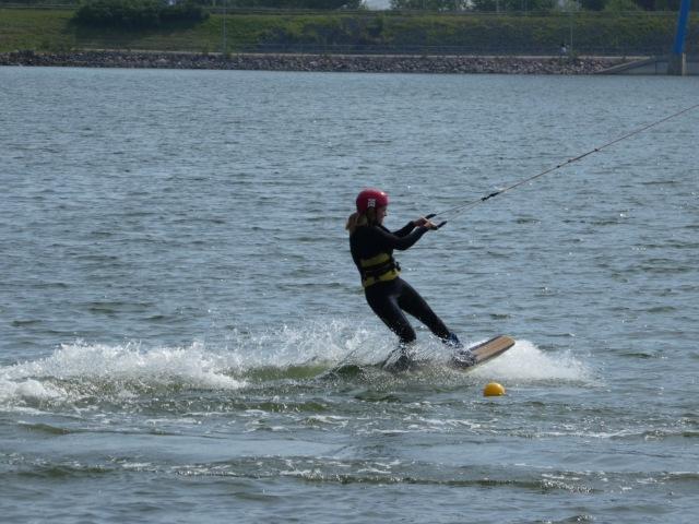 Water ski-ing near Ruoholahti Helsinki