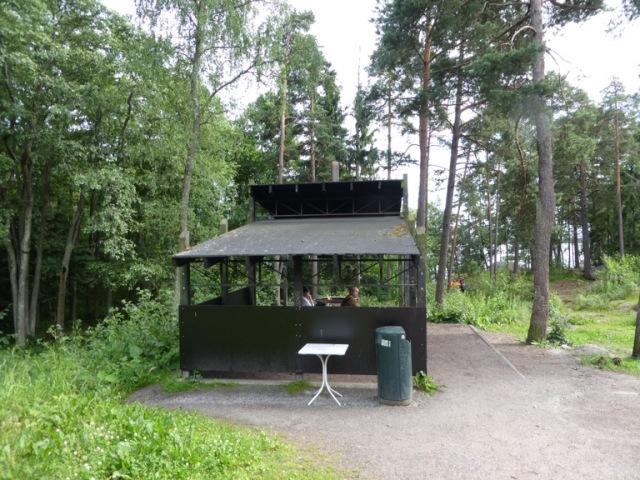 Barbecue area at Vuosaari, Helsinki