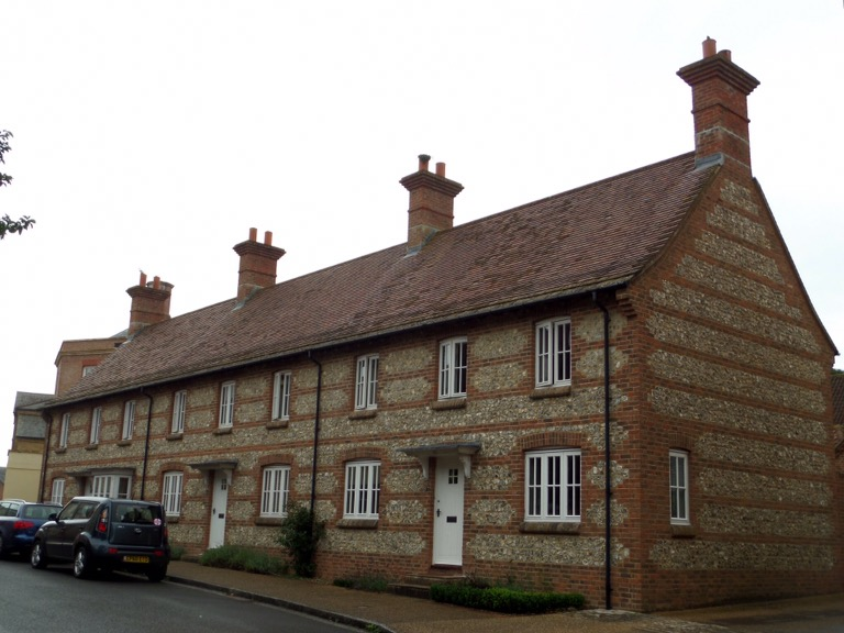 Cottages in Poundbury, Dorset