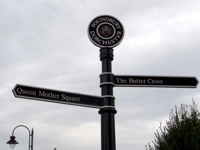 Poundbury Signpost