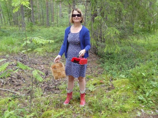 Mushroom picking, Finland