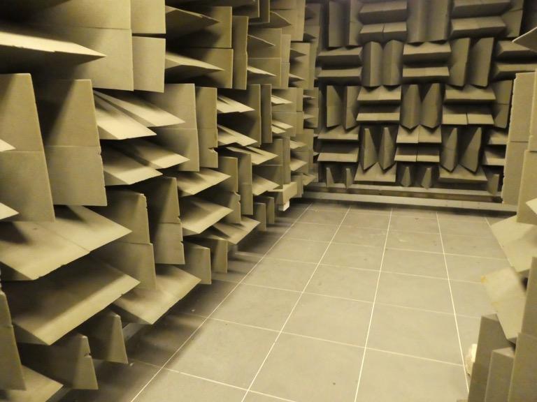 Dead room, BBC Radio Studio, Salford Quays