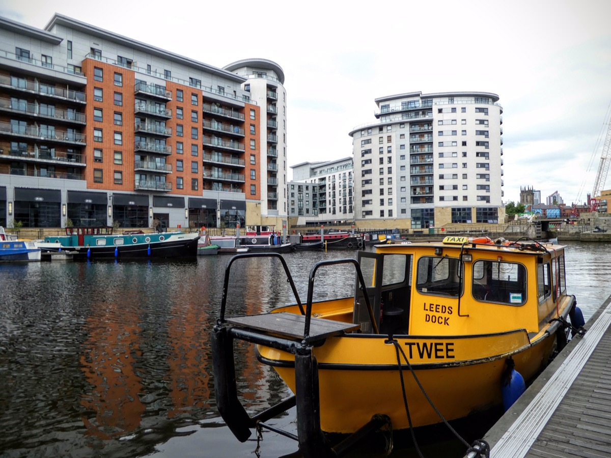 Water Taxi at Granary Wharf, Leeds