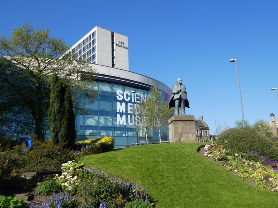 Outside the National Science & Media Museum, Bradford