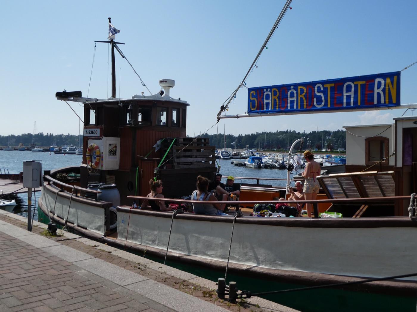 Theatre boat moored at Herttoniemi, Helsinki