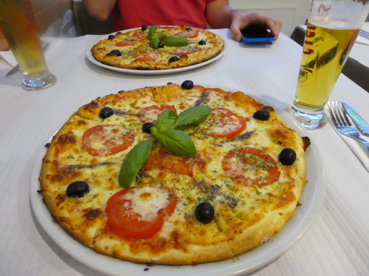 Dining out in a Lagos Pizzeria, Algarve