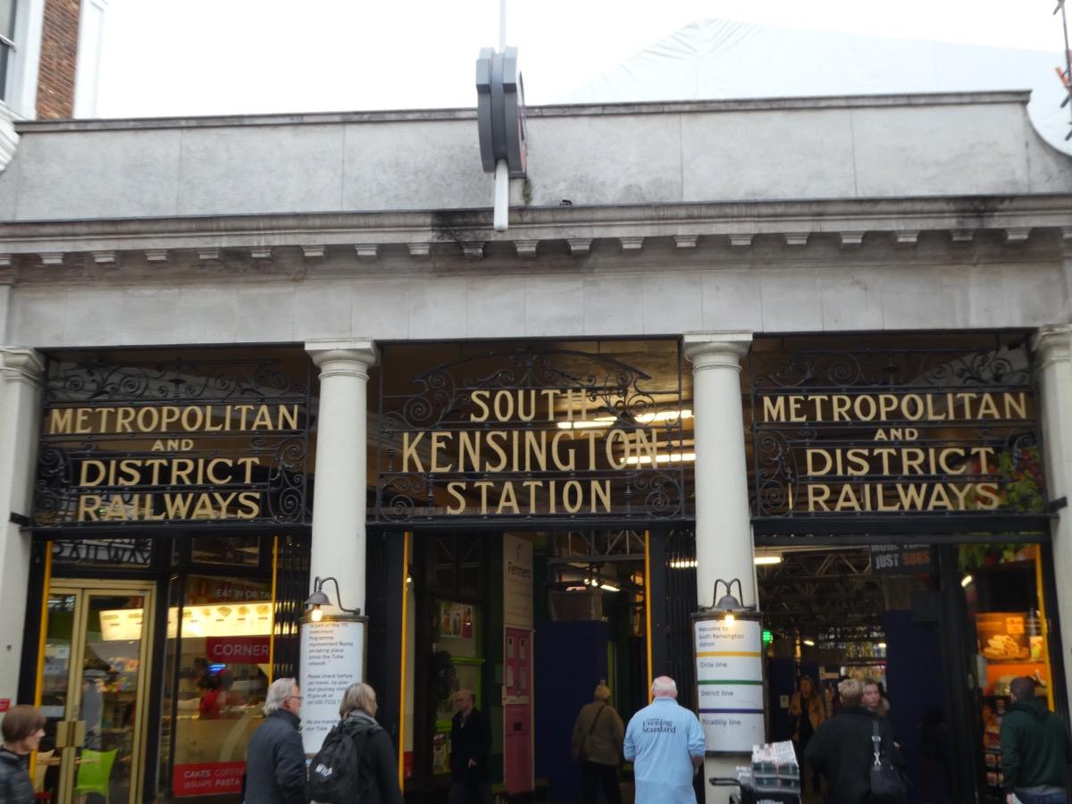 South Kensington Underground Station Entrance