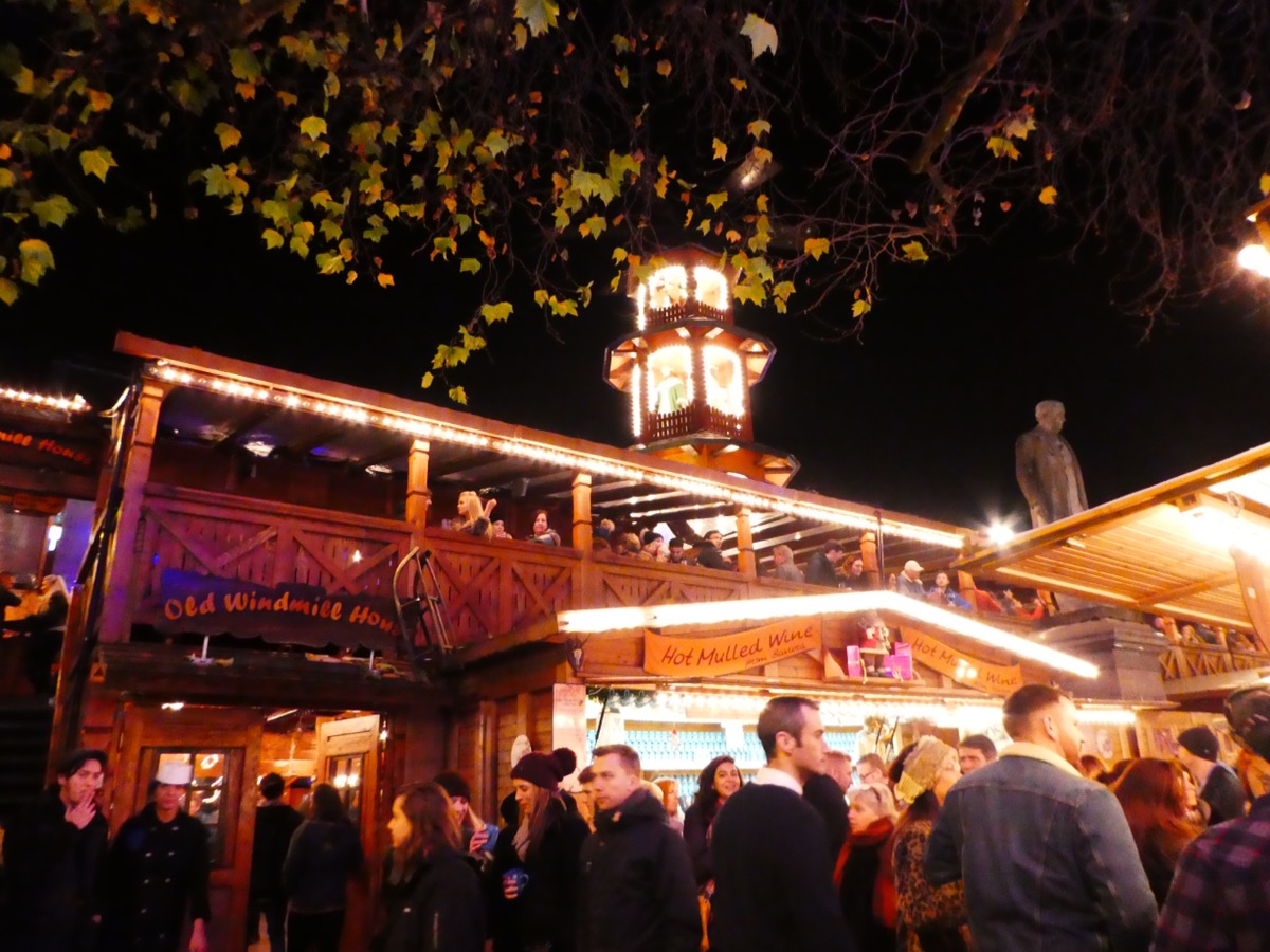 Manchester Christmas Market, night time