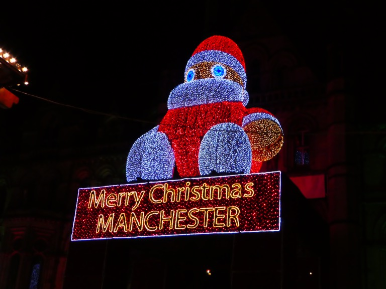 Illuminated Santa 'Zippy', Manchester Christmas Market