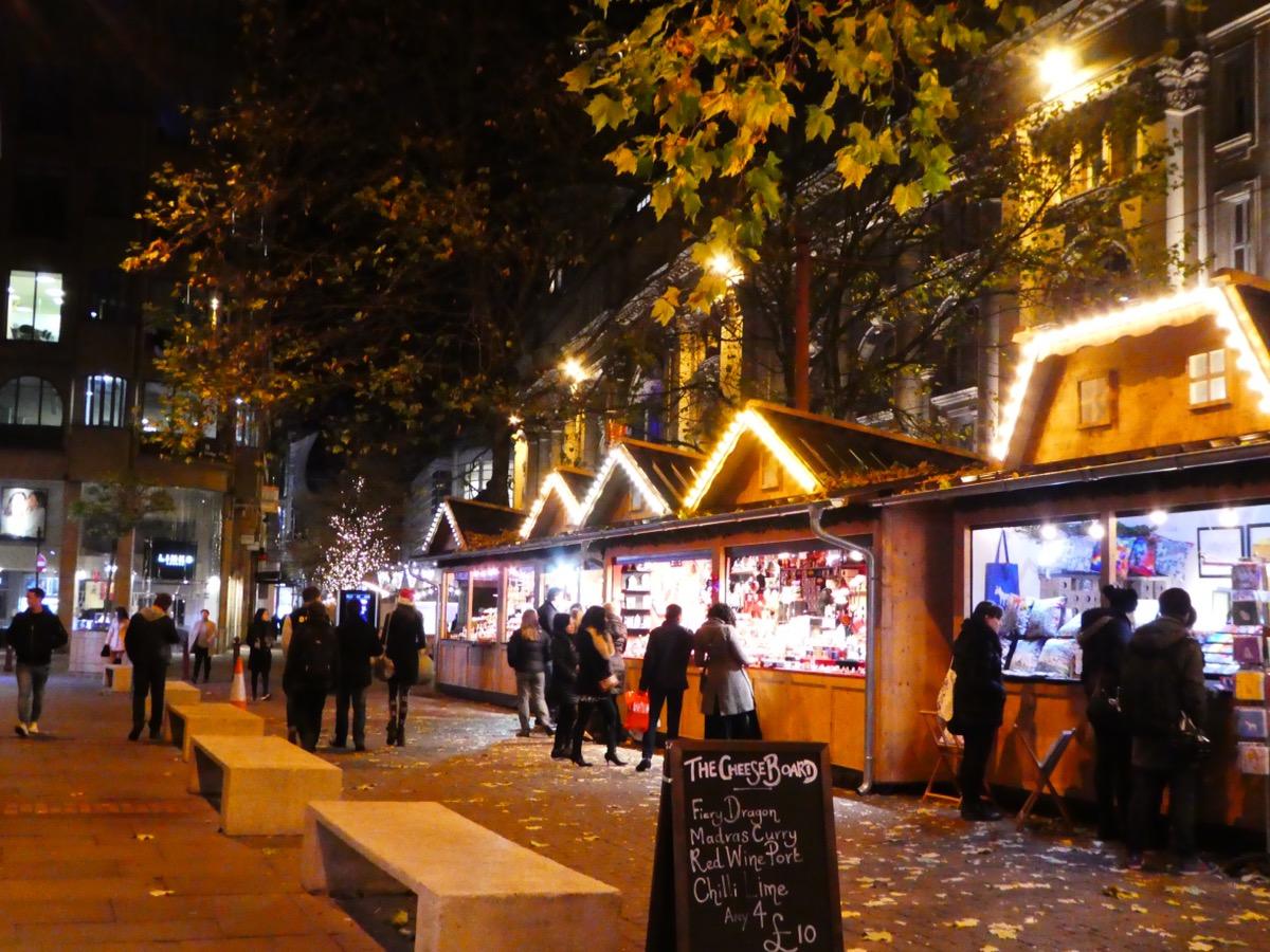 German Christmas market stalls, Manchester